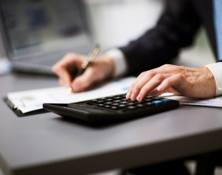 Man doing his accounting financial adviser working